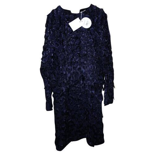Chloé Abito con frangia blu nuova etichetta - Second hand Chloé ... 249d6607d98