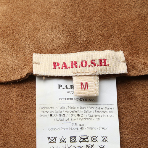 detailed look 14ff1 2fcf7 P.A.R.O.S.H. Skirt Leather in Beige - Second Hand ...