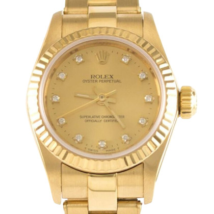"Rolex ""Oyster Perpetual Lady 750 oro giallo"""
