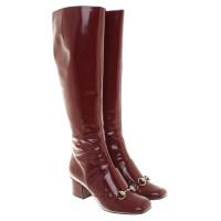 Gucci Stivali in vernice rossa
