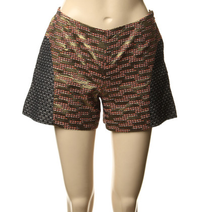 Matthew Williamson Shorts with gold effect yarn