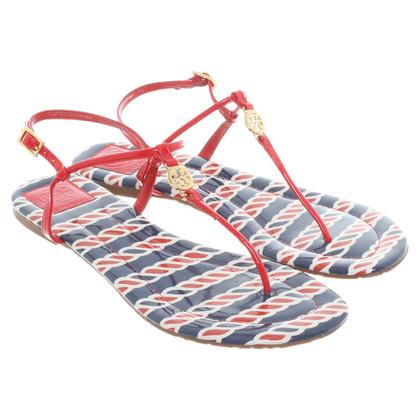 Tory Burch Lakleder sandalen