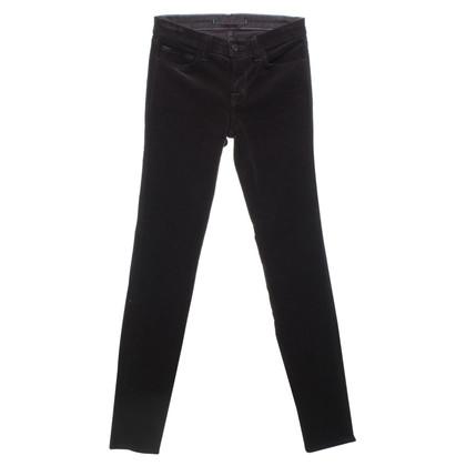 J Brand pantaloni di velluto in colore marrone scuro