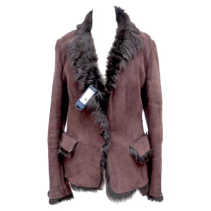 Gucci Lammfelljacke im Blazer-Stil
