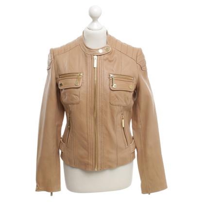 Michael Kors Camelfarbene Jacke aus Leder