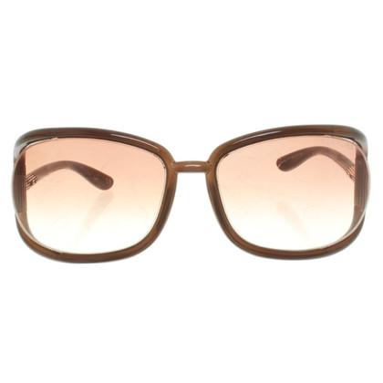 Tom Ford Lunettes de soleil en brun foncé