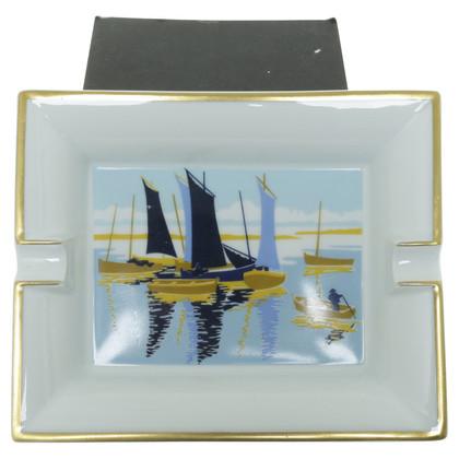 Hermès Portacenere con un motivo di nave