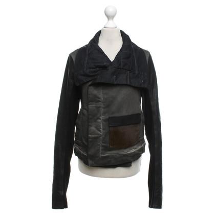 Rick Owens Leather jacket in grey / black