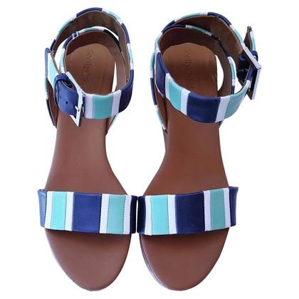See by Chloé sandales plate-forme à deux couleurs