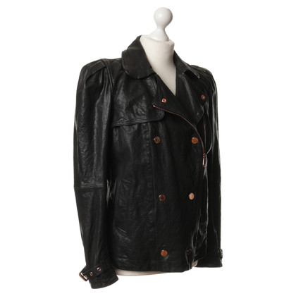 Mulberry Leather jacket in black