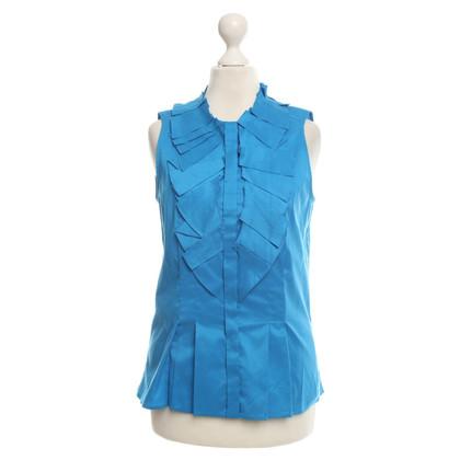 Hugo Boss Korte mouwen blouse in blauw