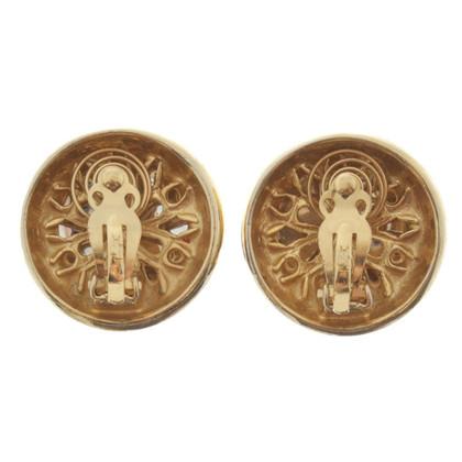 Yves Saint Laurent Boucles d'oreilles clip avec des pierres précieuses