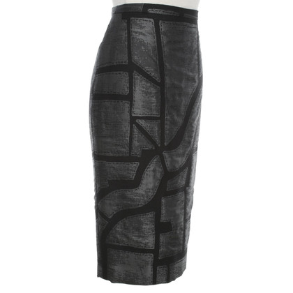 Max Mara Pencil Skirt in Black / grey
