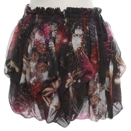 All Saints Silk Firework mini skirt