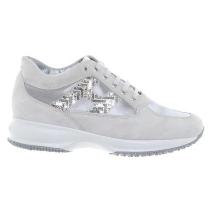 Hogan Sneakers in grigio-argento