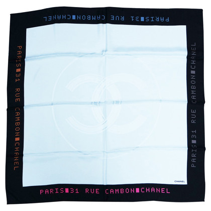Chanel FOULARD CHANEL TWILL WHITE SILK