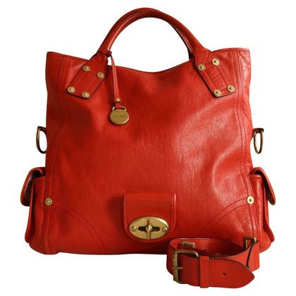 Mulberry Handbag in red leather