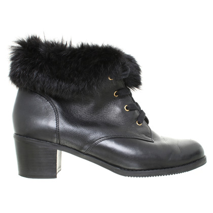 Kat Maconie Ankle boots with fur trim