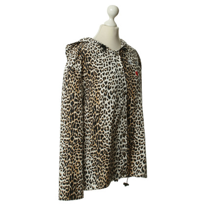 Rika Rain jacket with Leopard print