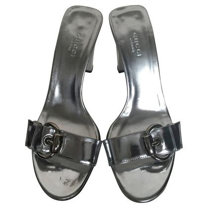 Gucci Zilveren Mules