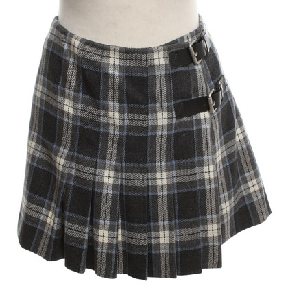 Céline Mini pleated skirt with check pattern