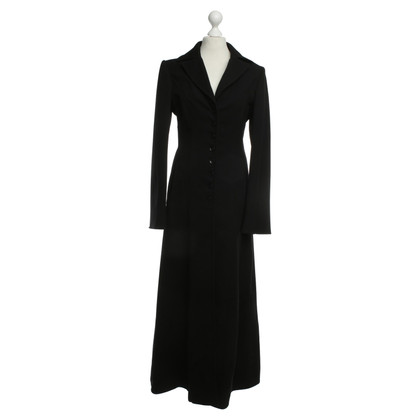 Alberta Ferretti Long coat in black