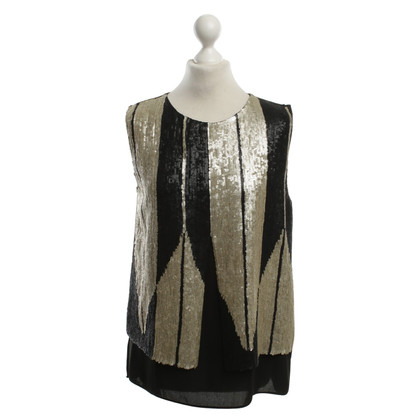 Maliparmi top with sequin trim