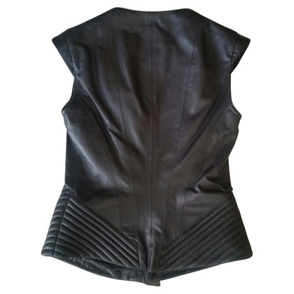 Elisabetta Franchi Black leather jacket