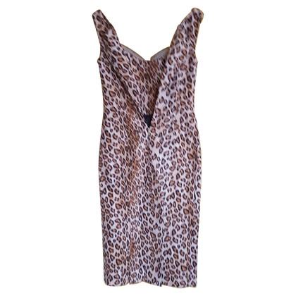 Alexander McQueen Schede jurk met animal print