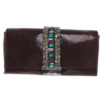 Roberto Cavalli clutch with gemstones