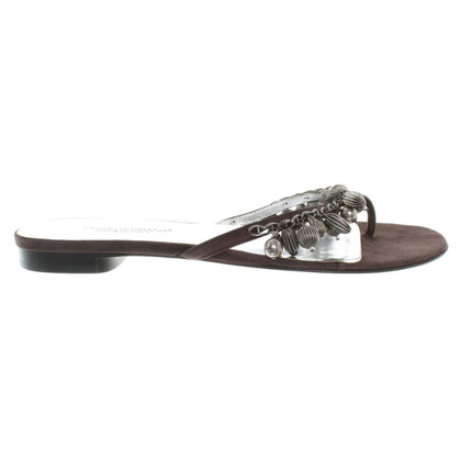 Dolce & Gabbana Flip Flops in Brown