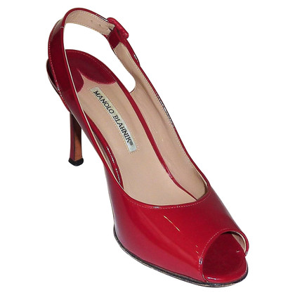 Manolo Blahnik Peep toes with slingback