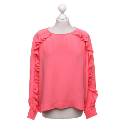 J. Crew Silk blouse in neon pink