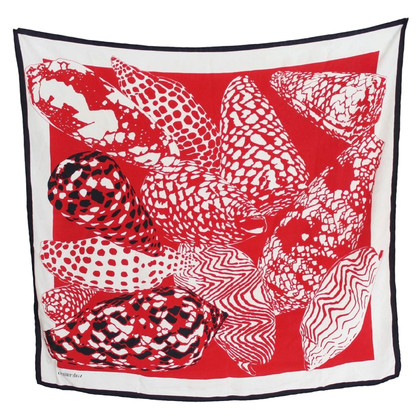 Valentino Valentino Silk Foulard Red White