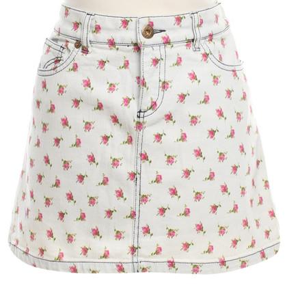 D&G Denim rok met een bloemmotief