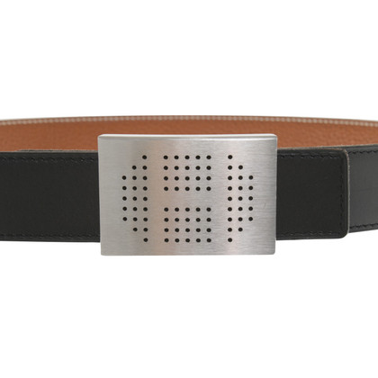 Hermès riem in zwart / Brown