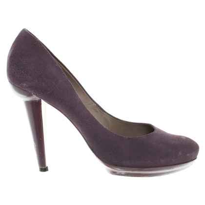 Bottega Veneta Wildlederpumps in Violett