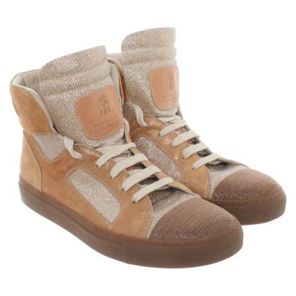 Brunello Cucinelli Sneakers met materiaalmix