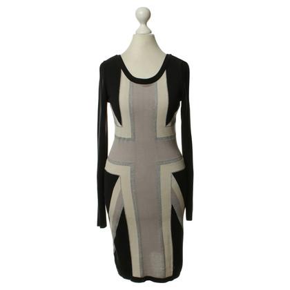 Temperley London zwart/grijs/wit jurk