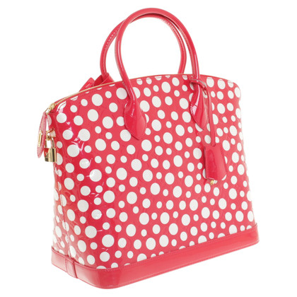 "Louis Vuitton ""Lockit MM Infinity Dots Red&White"""