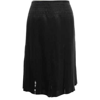 Donna Karan Pleated Skirt in Black