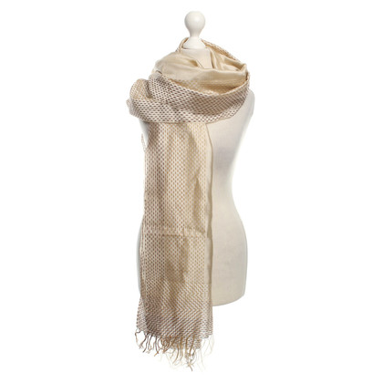 Loewe Gold-colored silk stole