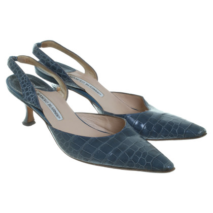 Manolo Blahnik Pumps in teal