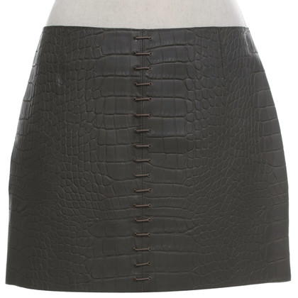 Alexander Wang Leather skirt in grey