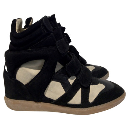 Isabel Marant Sneaker wedges in black/cream