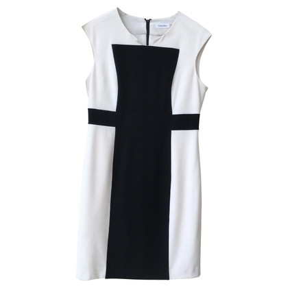 Calvin Klein Sheath Dress in Black / White