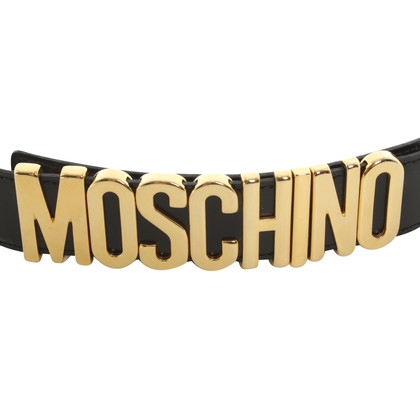 Moschino Cintura con lo script logo