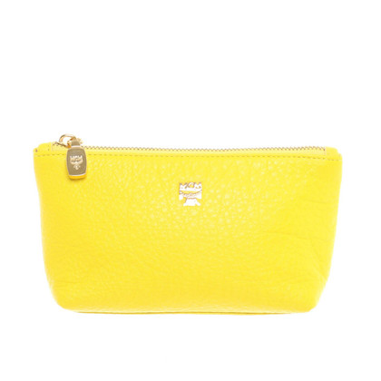 MCM Pochette yellow leather