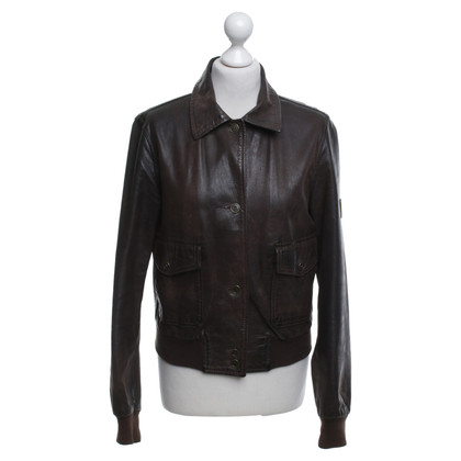 Belstaff Leather jacket in dark brown