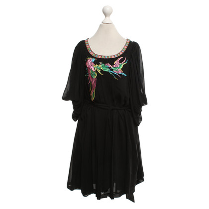 Matthew Williamson for H&M Silk dress in black / multicolor
